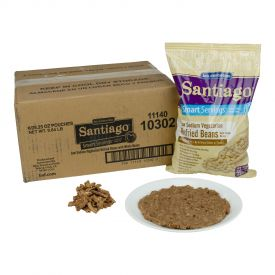 Santiago Vegetarian Low-Sodium Refried Beans W/ Whole Beans 26.25oz.