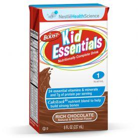 Nestle Boost Kid Essential Rich Chocolate Flavored Nutritional Beverage Calcilock 8.01oz.