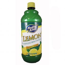 Ruby Kist Unsweetened Lemon Juice 32oz.