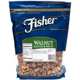 Fisher Walnut Halves & Pieces 32oz.