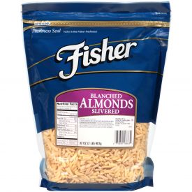 Fisher Blanched Slivered Almonds 32oz.