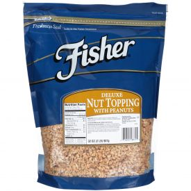 Fisher Deluxe Nut Topping 30% peanut 32oz.