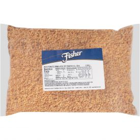 Fisher Granulated Dry Roasted No Salt Peanuts 5lb.
