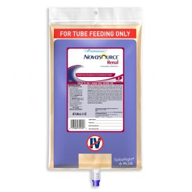 Nestle Novasource Renal Diabetes Tube Fed Special Nutrition Supplement Formula 33.8oz.