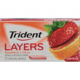 Trident Layers Wild Strawberry & Tangy Citrus Gum - 14ct