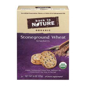 Back To Nature Organic Stoneground Wheat Cracker 6oz.