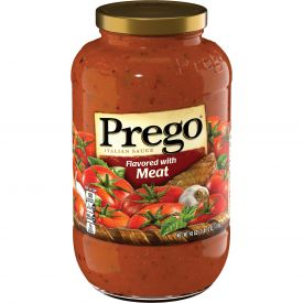 Prego Italian Sauce Flavored with Meat - 45oz