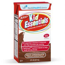 Nestle Boost Kid Essential Rich Chocolate Pediatric Liquid Calcilock 8.01oz.