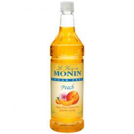Monin Sugar-Free Peach Syrup - 33.8oz