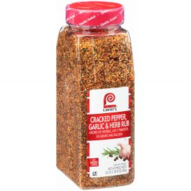 Lawry's Cracked Pepper, Garlic & Herb Rub - 24oz