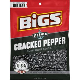 Bigs Sea Salt & Black Pepper Sunflower Seeds, 5.35 oz