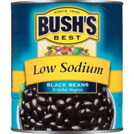 Bush's Low-Sodium Black Beans - 108oz