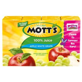 Mott's Apple White Grape Juice 6.75oz.