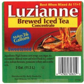 Luzianne Sweetened Tea Bag-In-Box Concentrate 3gal.