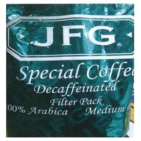 JFG Special Coffee Decaf Filter Pack 1.3oz.
