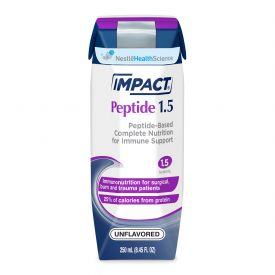 Nestle Impact Critical Care & Surgery - Liquid RTD Unflavored Peptide Based Drink 8.45oz.