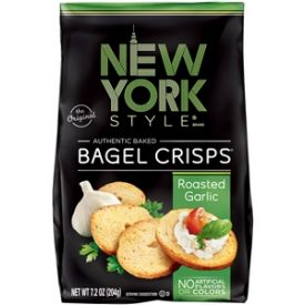 New York Style Garlic Bagel Crisps, 7.2 oz