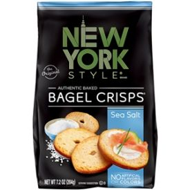 New York Style Bagel Crisps Sea Salt 7.2 Oz