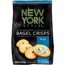 New York Style Plain Bagel Crisps - 7.2 oz