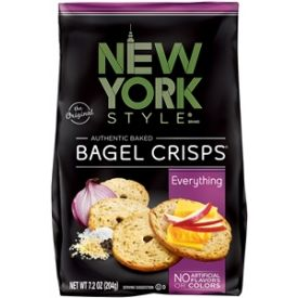 New York Style Bagel Crisps, Everything, 7.2 oz