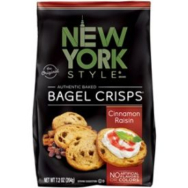 New York Style Bagel Crisps, Cinnamon Raisin, 7.2 oz