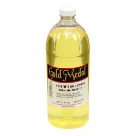 Gold Medal Imitation Non-Alcohol Lemon Extract 32oz.