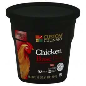 Custom Culinary Masters Touch Reduced Sodium Chicken Base - 1lb