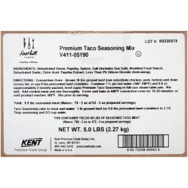 Foothill Farms Premium Taco Seasoning Mix - 5lb