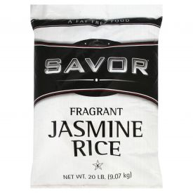Savor Imported Long Grain Jasmine Rice - 20 lb