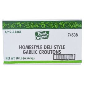 Fresh Gourmet Deli Style Garlic Crouton 2.5lb.