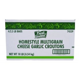 Fresh Gourmet Homestyle Cheese & Garlic Multi-Grain Crouton 2.5lb.