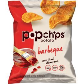 Popchips Potato Chips, BBQ Potato Chips, 0.08 oz