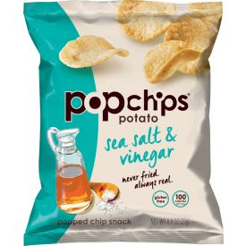 Popchips Sea Salt & Vinegar Popped Potato Chips, 0.08oz