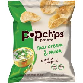 Popchips Sour Cream & Onion Potato Chips, 0.08 oz