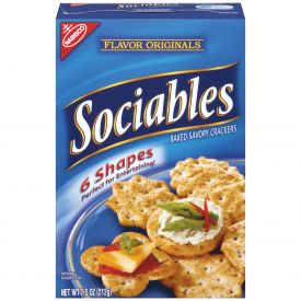 Nabisco, Sociables, Flavor Originals Crackers, 7.5 oz