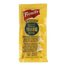 French's Classic Yellow Mustard Packets 7 gm.
