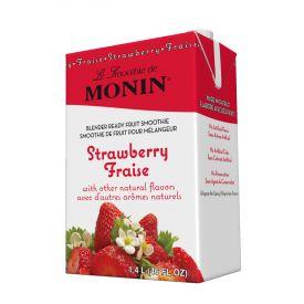 Monin Strawberry Fruit Smoothie Mix 46oz.