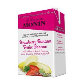 Monin Strawberry Banana Fruit Smoothie Mix 46oz.