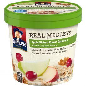 Quaker Real Medley Apple Walnut Oatmeal Cup 2.46oz.