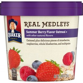Quaker Real Medley Summer Berry Oatmeal Cup 2.46oz.