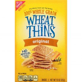Wheat Thins Snack Crackers, Original, 9.1 Oz