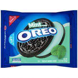Oreo Chocolate & Mint Creme Sandwich Cookies 15.25 Oz