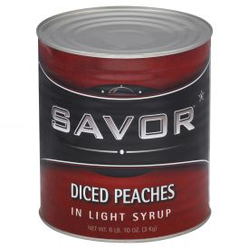 Savor Peaches Diced Light Syrup 106oz.