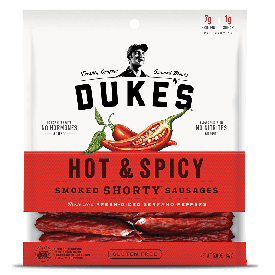 Duke's Hot & Spicy Shorty Smoked Sausages 5oz.