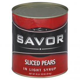 Savor Pear Sliced In Light Syrup 106oz.