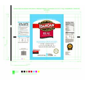 Idahoan Foods  Low Sodium Real Mashed Potatoes W/VIT C - 25.2oz