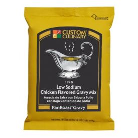 Custom Culinary Pan Roast Low Sodium Chicken Gravy Mix - 12oz