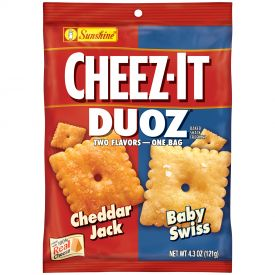 Cheez It Duoz Cheddar Jack and Baby Swiss Cracker - 4.3oz