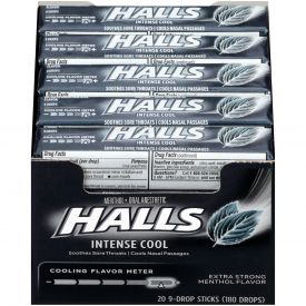 Halls Menthol Intense Cool Cough Drops Extra Strong - 9ct