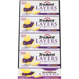 Trident Layers Grape Lemonade Gum - 14ct